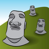 Easter Island Statues — Stock Vector