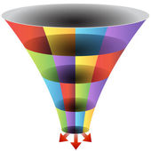 Mosaic Funnel Chart Set — Stock Vector