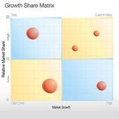 Growth Share Matrix Chart — Stock Vector