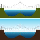 Bridge Chart — Stock Vector