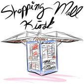 Shopping Mall Kiosk — Stock Vector