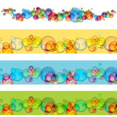 Floating Bubble Banner Set — Stock Vector