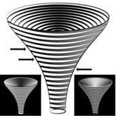 Halftone Funnel Chart — 图库矢量图片