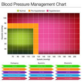 Blood Pressure Management Chart — Stock Vector