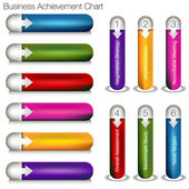 Business Achievement Chart — Stock Vector