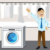 Laundry Business — Stock Vector