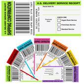 Recibo de confirmación de envío — Vector de stock