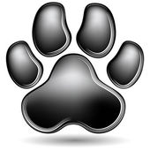 Scratchboard Paw Print — Stock Vector