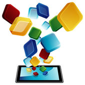 Tablet pc apps — Stockvector