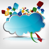 Cloud Server — Stock Vector