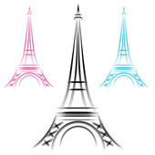 Abstract Eiffel Tower — Stock Vector