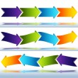 Transparent Glass Arrows — Stock Vector