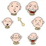 Mood Face Expression Icon Set — Stockvektor