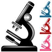 Scratchboard Microscope — ストックベクタ
