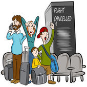 Flight Cancelled — Stock Vector