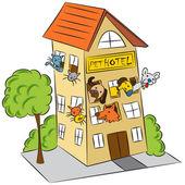 Pet Hotel — Stock Vector