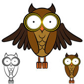 Owl Drawing — Stock Vector