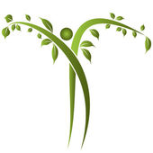 健康树人 — 图库矢量图片