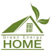 Energia verde para casa — Vetor de Stock