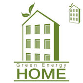 Green Energy Apartment Home — Stock Vector