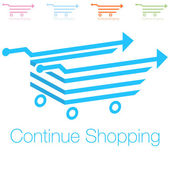 Continue Shopping Icon — Stockvektor