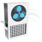 Evaporative Air Cooler — Stock Vector
