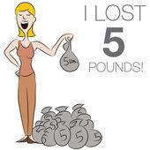 Woman Dropping Pounds — Wektor stockowy