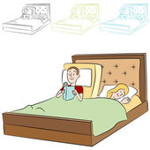 Adjustable Bed — Stock Vector