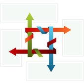 Gefaltete pfeil diagramm — Stockvektor