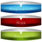 Regulation Risk Reform Chart — Stock Vector