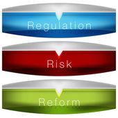 Regulation Risk Reform Chart — Stock Vector