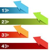 Folded Arrow Dividers — Wektor stockowy