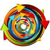 Arrow Sphere — Stock Vector