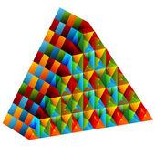 3d Collective Pyramid — Stock Vector