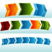 3D Curving Process Chart — Stock Vector