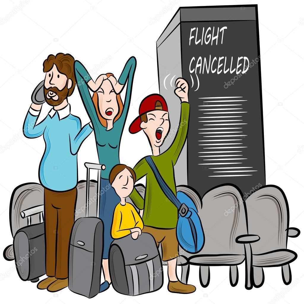 一个航班取消了