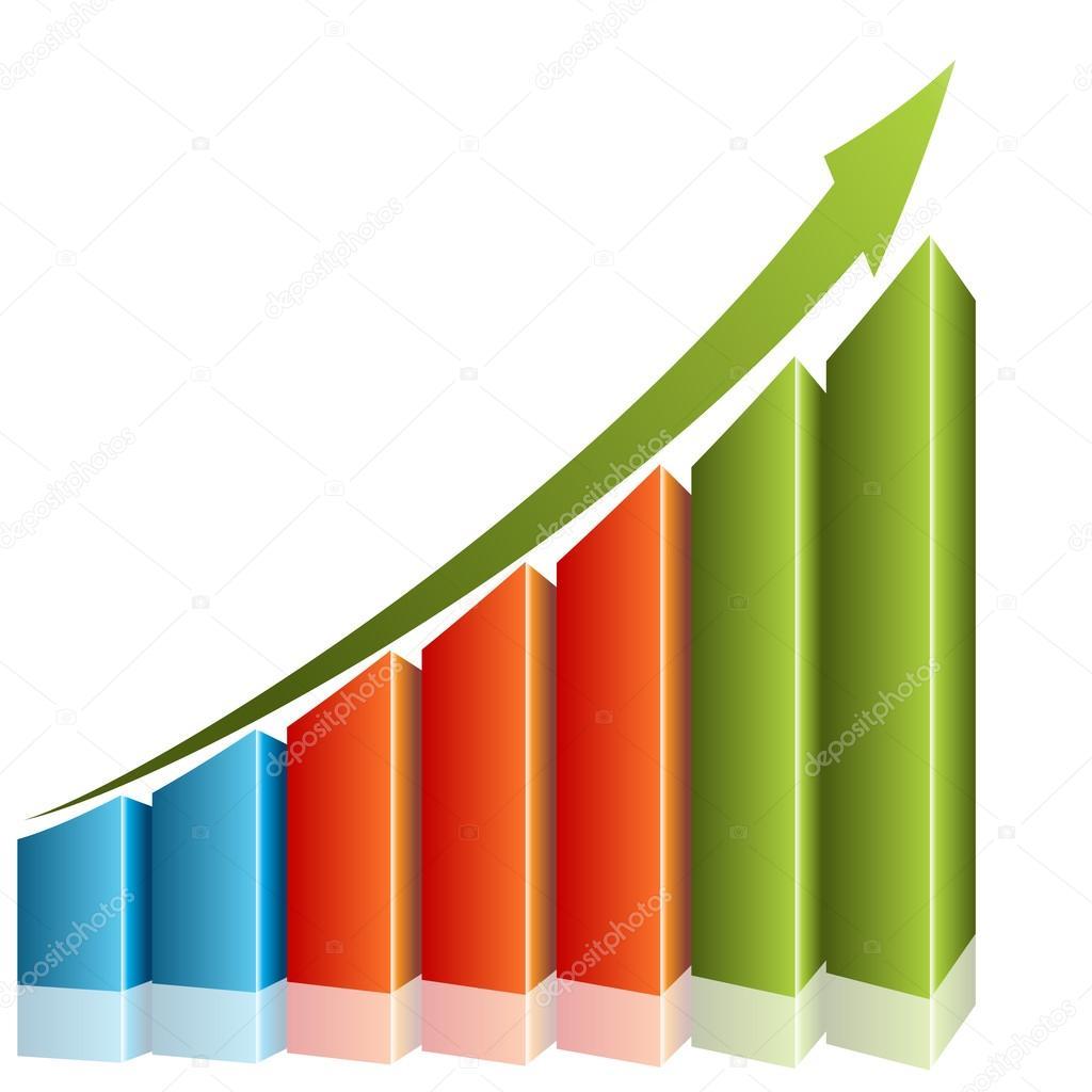 持续增长图表 — 图库矢量图片#44837503