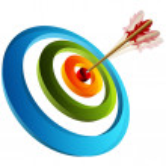 3d Target with ARrow — Stock Vector #44840249