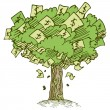 Money Tree — Stock Vector