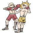 Постер, плакат: Boxers Fighting