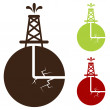 Hydraulic Fracturing Icon — Stock Vector #44840859