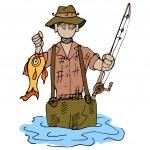 Fisherman — Stock Vector #44842699