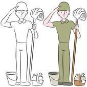Army Recruit Saluting — Vector de stock