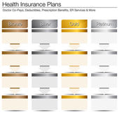 Health Insurance Plans — Stock Vector