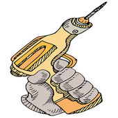 Power Drill Tool — Stock Vector