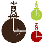 Hydraulic Fracturing Icon — Stock Vector