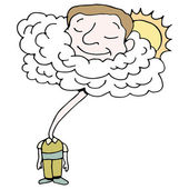 Head in Clouds — Stock Vector