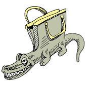 Alligator Handbag — Stock Vector