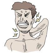 颈部疼痛 — 图库矢量图片
