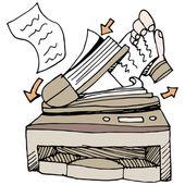 Document Scanner — ストックベクタ